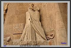 Spanien 2007: Barcelona - Sacrada Familia (pharoahsax) Tags: world barcelona get church colors face statue canon spain gesicht cathedral kathedrale kirche catalonia