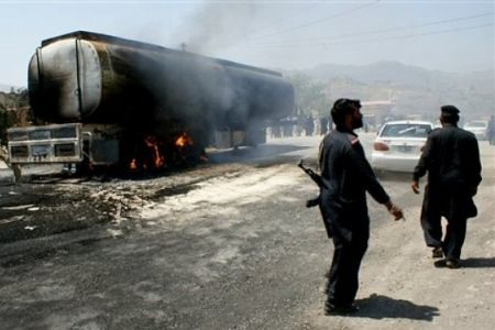 Three tankers were attacked and bombed in Pakistan by the forces resisting the United States and NATO occupation of this Central Asian nation. by Pan-African News Wire File Photos