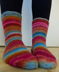Wide Awake Handspun Socks (nittydread) Tags: socks handspun wideawake scf polwarth chainply nply