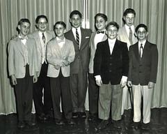 Mike Friedenberg's Bar Mitzvah / November,1954 (steveartist) Tags: family friends boys detroit parties 1954 barmitzvahs youngmen jewishculture religiousevents stevefrenkel alanfrenkel mikefriedenberg mikeswirsky milesauster jimmyhendon barrywolfe