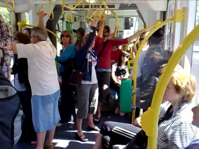 POTD: Crowded weekend trams