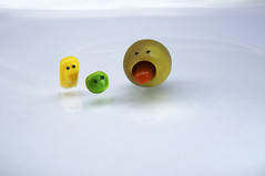 Trio (JanMcFly) Tags: food face corn essen funny gesicht olive mais trio pea erbse