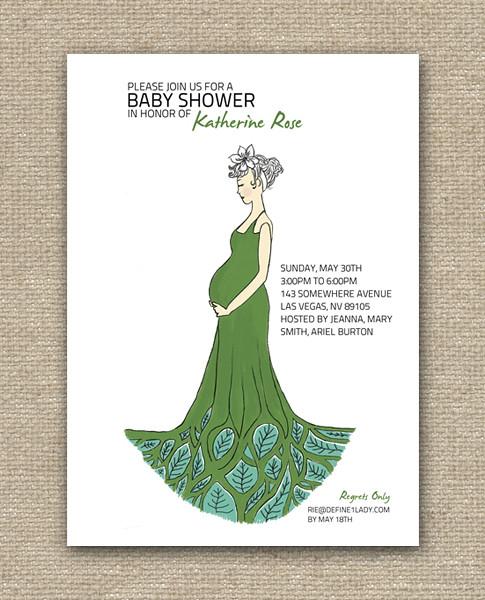 Modern Maternity Baby Shower - Invitation Design - DIY Printables