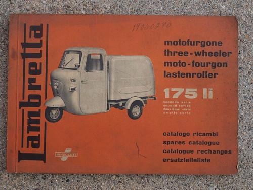 Lambretta 175 LI II parts manual