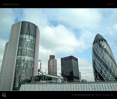 In The Heart of Pinstripe City (tomraven) Tags: blue sky london clouds grey cityscape skyscrapers towers hdr cityoflondon fenchurchstreet squaremile gerkhin ex1 financialsector tomraven aravenimage q22011