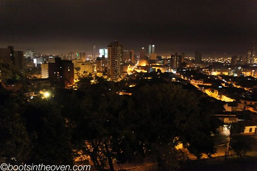 View of the city from the park above San Antonio