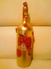 garrafa aplicaçao biscuit (regina arte) Tags: biscuit garrafa aplicaçao