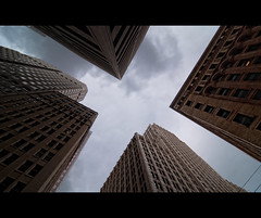X. Day 231 ([Sebastien C.]) Tags: california street city sky urban building buildings outdoor wideangle x m lookup 365 dramaticsky 11mm sanfransisco headsup skyscrapper nikond80 tokina1116mm ayrcontestpointofview
