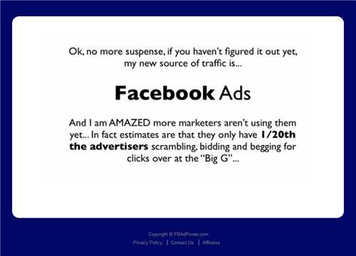 『Facebook Ad Power』(Facebookアドパワー)の動画セールスレター