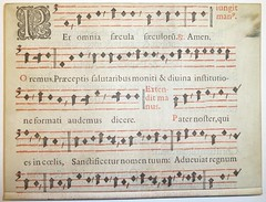 Early printed parchment leaf, probably from a missal