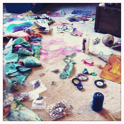 jewelry making in progress