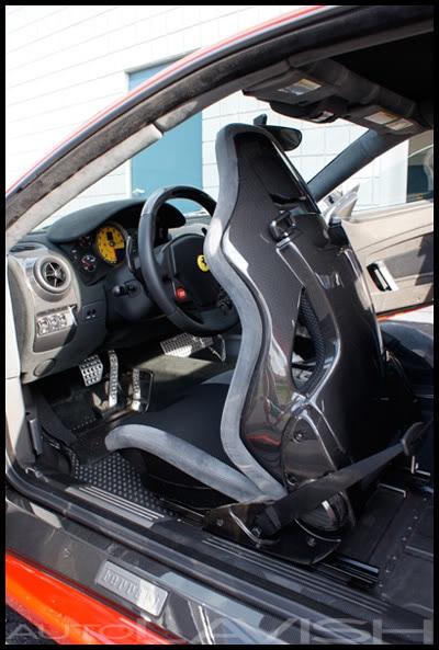 ferrari carbon fiber seats finished