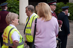 ISB120 2011 068 (Howard.) Tags: pink london women guard drinking police security speaking 2011 staffband isb120