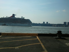 view from work (starpants) Tags: nyc newyorkcity cruise carnival water work river pier hudson