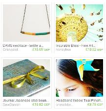 teal and yellow treasury