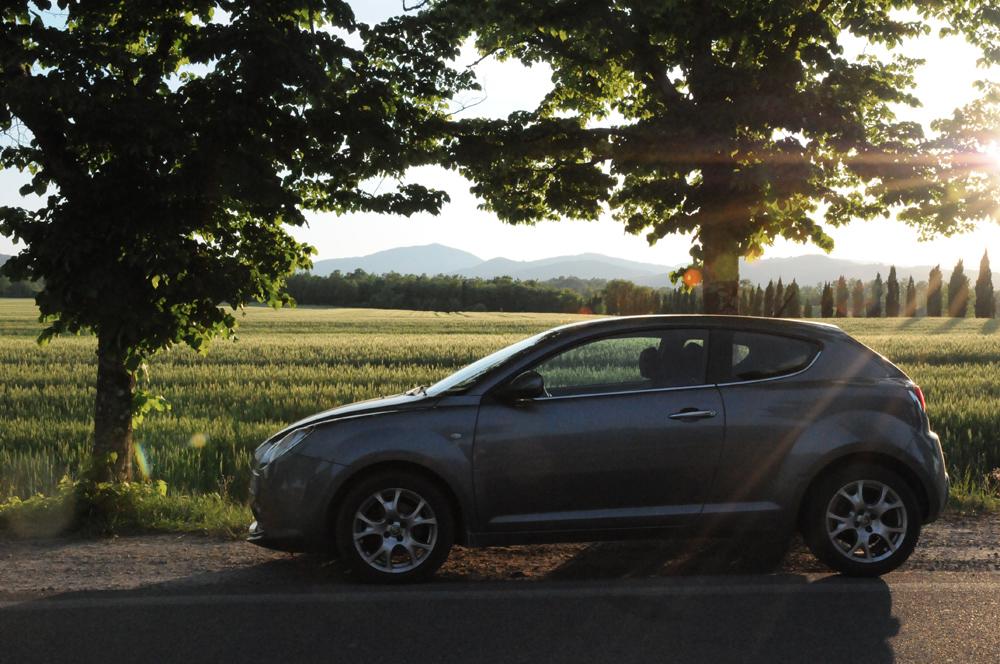 Alfa Romeo Mito — Abbazia di San Galgano, Tuscany