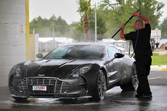 How to clean a supercar? (thomas heurtin) Tags: toby car canon eos grey gris martin thomas du exotic mans 24 limited supercar aston lavage heures 2011 550d worldcars one77 heurtin