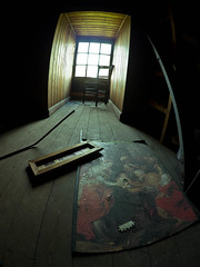 (Toby.Batchelor [insta: @tobybatchelor]) Tags: old people house abandoned dead peeling paint retro fisheye panasonic spooky manor derelict urbex gh2