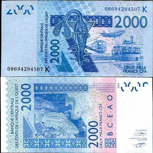 2000 Frankov Západná Afrika - Senegal 2003(2008), Pick 716K
