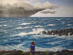 No.5-Jackie Pennoyer, The Storm, and the Italian Sea-June 02 (Thomas Salgado) Tags: oilpainting e510 olympuse510 jackiepennoyer