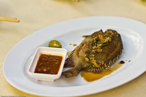 Deep-fried Parrot Fish with Cumin sauce