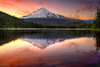Reflection of Mount Hood on Trillium Lake at Sunset - HDR (David Gn Photography) Tags: travel sunset sky usa mountain ski reflection nature colors clouds america forest landscape fishing glow view pacific northwest hiking north dramatic resort evergreen wilderness mounthood hdr trilliumlake 3xp waterscenic oregonsnow canoneos7d platinumpeaceaward sigma2470mmf28ifexdghsm doublyniceshot mygearandme mygearandmepremium sigma50th