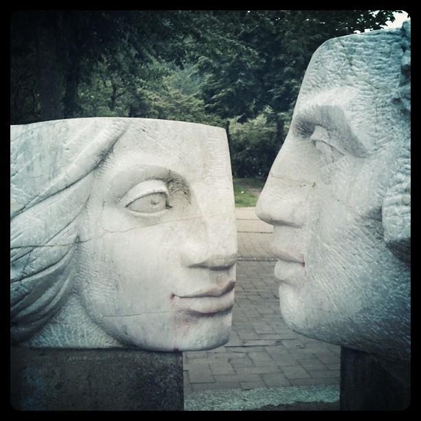 stone sculpture Deep Cove, British Columbia