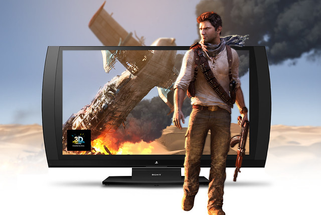 UNCHARTED 3 on the 3D Gaming Display