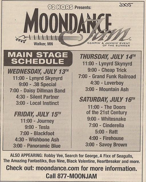 07/13 - 16/05 Moondance Jam 2005 @ Walker, MN