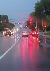 Street Lights (btusdin) Tags: reflection glare streetlights brakelights 114in2014