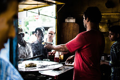 fried chicken shop (gajendrapalchoudhary) Tags: travel people chicken shop indian explore raipur expore