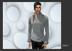 "sharp by [ZD] - ""Lucian"" Slim Fit Shirt - Checked (shine & sharp by [ZD]) Tags: life urban man male men fashion shirt by demo cool shine slim dress place mesh market sharp sl dresses second mann marketplace mp mode fit männer lucian kleidung checked menswear kleid hemd männlich zd kariert inworld karomuster zddesign"