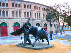 0074 The Matador, Plaza de Toros de El Puerto de Santa Maria - Cadiz, Spain (Traveling Man  Off to Indonesia) Tags: city espaa statue canon spain europa europe eu ps bull powershot espana spanish pointandshoot andalusia cdiz bullfight elpuerto canonpowershots2is europeanunion pointshoot bullring bullfighting tauromachy municipality sseries matador plazadetoros bloodsport toreo tourada toreros corridadetoros elpuertodesantamara canons2is tauromachia reinodeespaa kingdomofspain theportofsaintmary traditionalspectacle