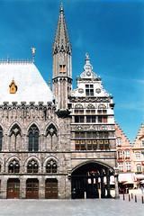Belgium.  June 20th. 1999 (Cynthia of Harborough) Tags: 1999 architecture arches art doorways entrances minarets people spires
