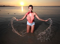 IMG_7544 (c0466art) Tags: lovely princess sao tome mayla pretty smile beautiful sunset momemt colorful golden sea reflection nice pose action weat africa small country outdoor portrait light canon 1dx c0466art