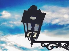 (Luca3803) Tags: skyblue blu blue azure lightblue azzurro sky cielo place square piazza streetlamp lamp bulb lampadina lampione lampada italia italy