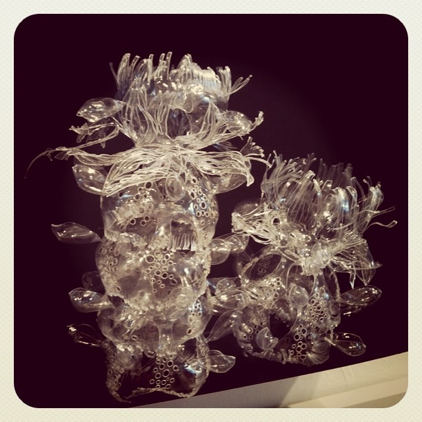 Beautiful plastic bottle sculpture by Miwa Koizumi at Dear Japan show (http://dearjapanny.wordpress.con)