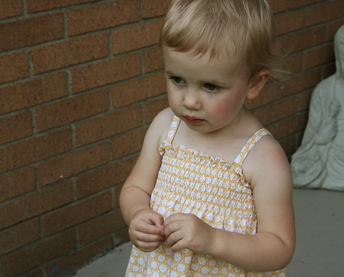 shirred yellow sundress 4