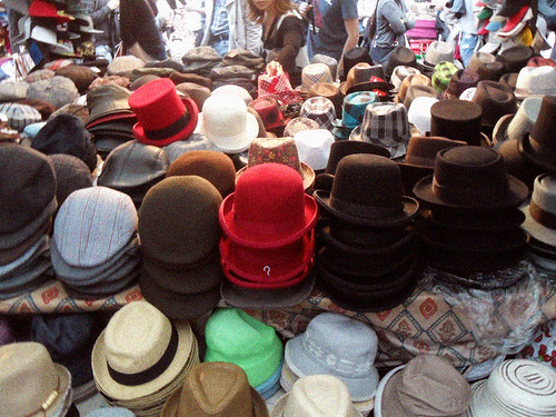 Plenty of hats, glorious hats.