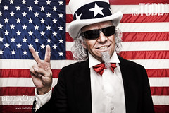 Uncle Sam Peace Gesture (Todd Keith) Tags: usa america liberty freedom peace sam uncle flag unitedstatesofamerica fourthofjuly americana statueofliberty july4th starsandstripes unclesam patrotic