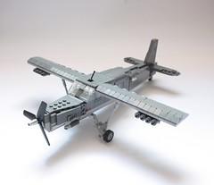Tuscan C-1 (Babalas Shipyards) Tags: scale plane army lego aircraft military aeroplane cargo airforce prop turboprop tuscan minifigure
