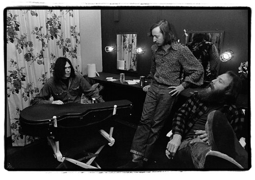 Neil Young backstage at Fillmore East, March 7, 1970