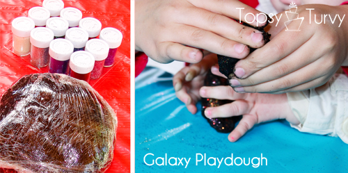 Lego-Star-Wars-birthday-party-craft-galaxy-playdough