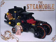 Steamobile & Sutton Wayne (captainsmog) Tags: strange car photo rivets lego wayne grandfather victorian picture machine steam story batman copper minifig minifigs custom batmobile gears pilot steampunk mocs moc steamobile