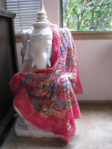 Modeled Shawl