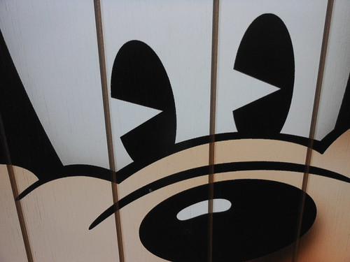 Mickey Mouse has Pac-Man eyes