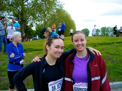 Beth & Kim - Before the Scotiabank Half Marathon 2011
