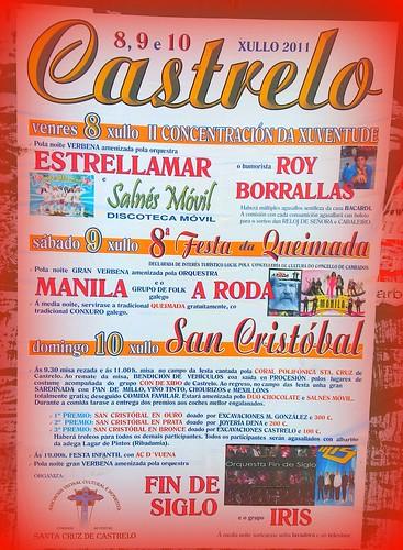 Cambados 2011 - Festas de Castrelo - cartel