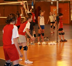 Tess et Marine en rception (scribe74) Tags: volley finales besanon tournoi benjamines