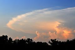 Distant Anvil Cloud (NaturalLight) Tags: park sunset cloud creek kansas thunderstorm wichita anvil cumulonimbus chisholmcreekpark chishom